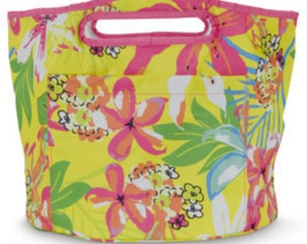 Cooler Personalized - floral and orchid - picnic