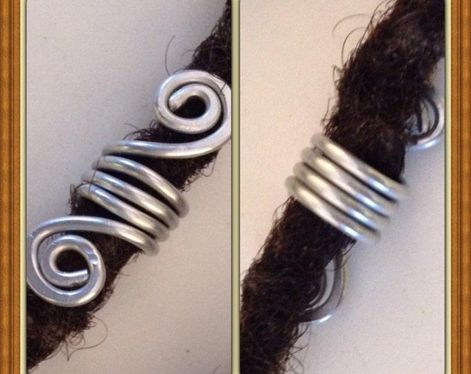Silver  Dreadlock Bead Accessories Natural Hair Gift