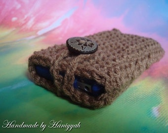 cell phone cozy - crochet cover sleeve for cell phone, handmade