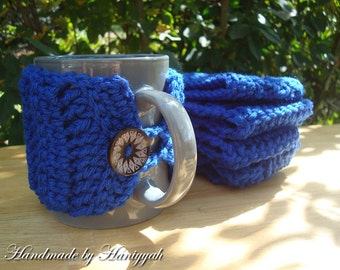 Crochet Mug Cozy in Blue