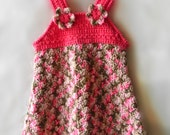 Princess Mocha Crochet Jumper Dress