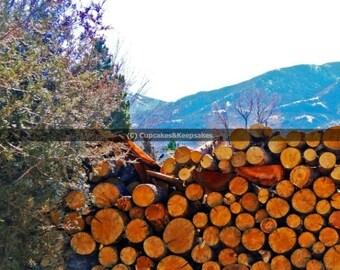 "Winter ""Wood Pile"" Fine Art Photograph"