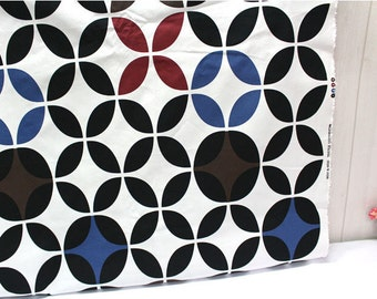 """Modern Geometric Oxford Cotton Fabric - Northern Europe Style - By the Yard (44 x 36"""") 40742"""