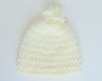 Baby To Adult Cream Hat Teen Girl Winter Ivory Cap 3 6 9 Month Boy Fall Beanie 2 3 4 5 Years Preteen Boy Pastel Beige Clothing Ready To Ship