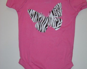 Zebra Butterfly Body Suit
