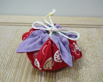 Limited Edition Persimmon fruit style cotton Drawstring bag, gift bag, wedding, shower favor