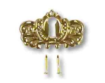 Stamped Brass Key Escutcheon, backplate or key save