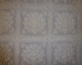 "34"" by 25"" Vintage Chenille Fabric in Cream Color  Soft and Fluffy Feel"