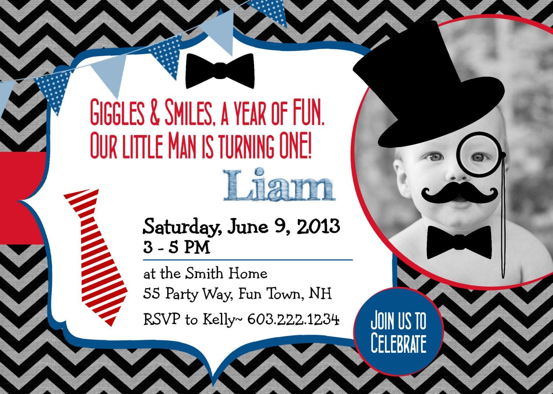 Little Man Birthday Invitations gangcraftnet – Little Man Birthday Party Invitations
