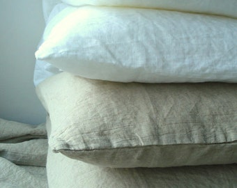 """Soft Natural Linen Bedding Set King size 87""""x102"""" 220x260 cm  SHIPPING WORLDWIDE Duvet cover and 2 Pillow cases Valentine day gift"""