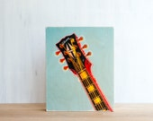 "Gibson Guitar Photo Art Block - Limited Edition Fine Art Image Transfer on 8""x10"" Wood Panel by Patrick Lajoie"