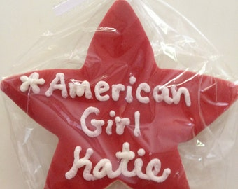 American Girl Star Cookie Favor or Personalize Any Star Cookie Favors