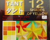 Origami Paper - 96 sheets of Tant Yellow 3 inch origami paper - same color both sides - 12 shades of yellow origami paper