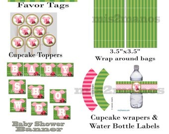 Football Baby Shower Birthday Party Printable KIT Instant Download