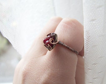 simple ring tutorial - wire wrapped vintage ring tutorial - simple ring pattern - tutorial 24