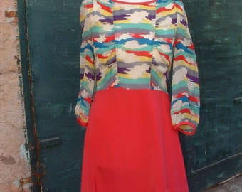 MARC JACOBS silk dress   made in France circa 1980'S free shipping