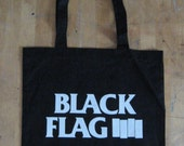 BLACK FLAG 'bars' tote bag (colour variations available. ask us.)