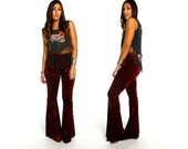 Hells Bells RUBY TUESDAY Crushed Velvet Bell Bottoms