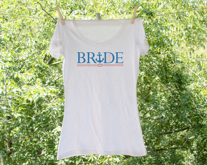 Nautical Bride with Anchor Knot and Wedding Date