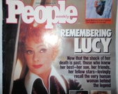 Vintage August 1989 People Magazine Remembering Lucy Lucile Ball