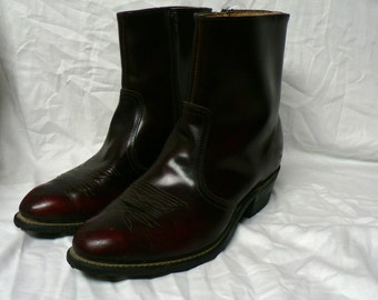 Vintage Leather Ankle High Boots