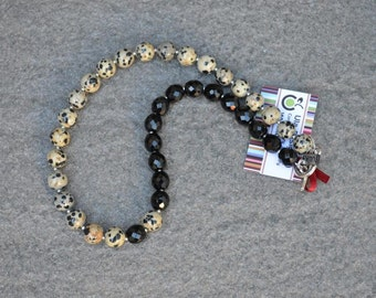 Necklace Dalmatian Jasper Jewelry