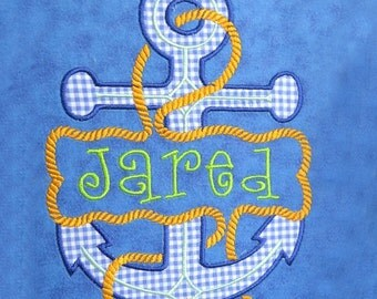 Split Ship Anchor Applique Embroidery Design INSTANT DOWNLOAD