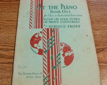 At The Piano, Book One piano instruction book
