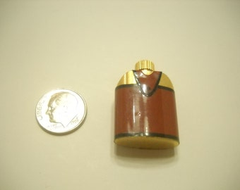 Miniature Brass Flask (2207) Vinyl Covering