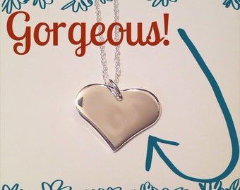 Sterling heart necklace you chose name