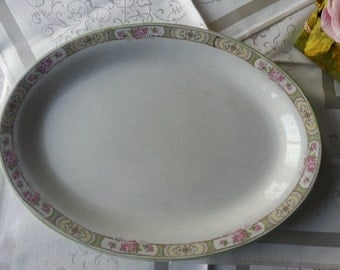 Gorgeous Shabby Chic Antique Ironstone Platter