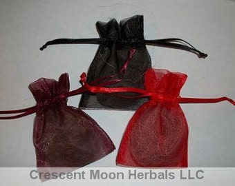 WOLF for Protection, Native American, Spells, Wicca with Organza Pouch