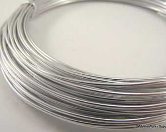 Silver Anodized Aluminum Wire, 14 gauge, 45 foot coil