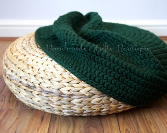 Crochet cover for ALSEDA stool. Green. Housewarming. Home furnishing. Floor pillow. Cozy home decor. Pouffe. Seat. Cover. Floor cushion.
