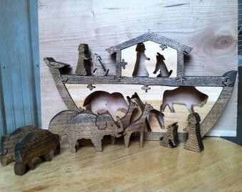 small 10 piece  Noah's Ark Puzzle