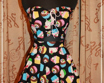 Cupcake Bustier Top And Skirt