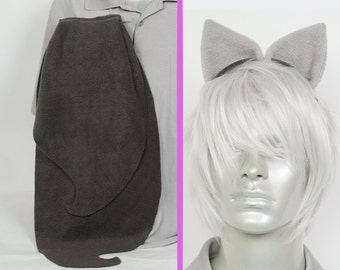 Octavia Adjustable Ears and/or Tail - buy as a set or separate! Costume sized for Kids or Adults