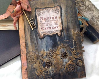 Steampunk themed Wedding Guest Book
