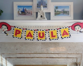 Toy Story JESSIE or WOODY NAME Birthday Disney Banner