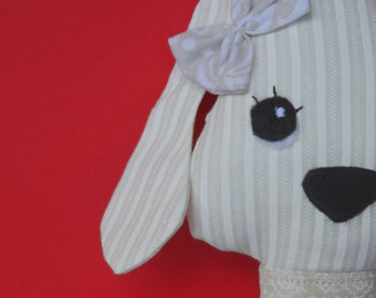 Cotton cloth doll dog  - pretty girl puppy