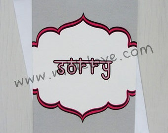 Occasion Wallah Cards - Sorry