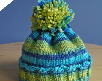 Adult Beanie Pattern, Knitting Pattern, TheKnittedArts Style Beanie Hat
