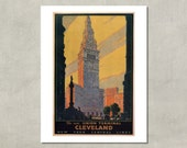 Cleveland New York Central Lines, 1930 - 8.5x11 Travel Print - also available in 13x19 - see listing details