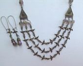 Layered Statement Necklace-Bird Statement Necklace-Victorian-Hand Made-One of a Kind-Designs by Stalinda