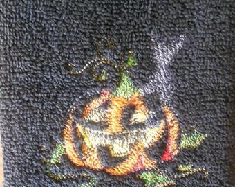 Halloween Towel/ Shadow Of The Pumpkin Towel/ Fall Decor/ Halloween Decor