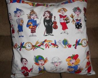 Teachers Pillow Covering/ Pillow Covering/ School Teacher Gift/