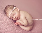 Sequin Baby Headband, Baby Photo Prop, Baby Girl Halo Headband, Newborn Rosebud Headband, RTS