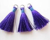 Silk tassels Jewelry making tassels Handmade tassels Craft supplies 10pcs