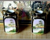 FOR CHARITY:  Pair of Hand Painted Nippon Vases