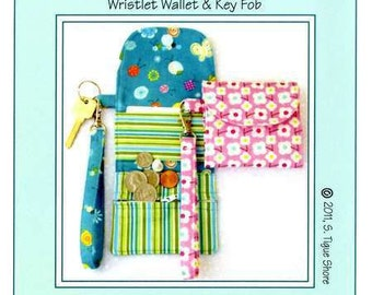 PATTERN:  Cash on Hand - - - Wristlet Wallet & Key Fob
